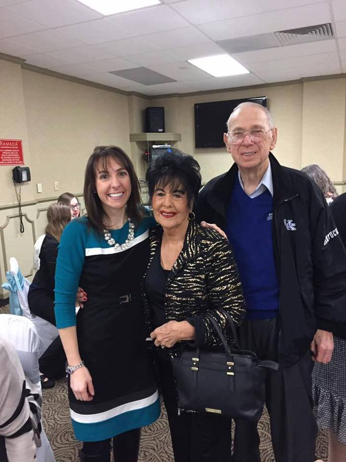 Symposium morning keynote, Allison Ball with her grandparents  by Morehead State University Small Business Development Center in Pikeville KY